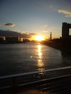09年最後の夕日。